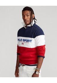 Ralph Lauren - RALPH LAUREN - Bluza bez kaptura Polo Sport. Typ kołnierza: bez kaptura, polo. Kolor: czerwony. Wzór: nadruk. Styl: sportowy