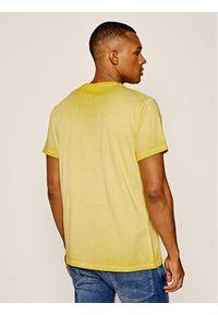 Pepe Jeans T-Shirt West Sir PM504032 Żółty Regular Fit. Kolor: żółty