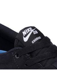 Nike - Buty NIKE - Sb Charge Suede CT3463 001 Black/White/Black. Kolor: czarny. Materiał: skóra, zamsz