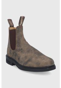 Blundstone - Sztyblety skórzane 1306. Nosek buta: okrągły. Kolor: brązowy. Materiał: skóra