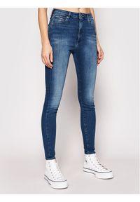 Tommy Jeans Jeansy Sylvia DW0DW09215 Niebieski Super Skinny Fit. Kolor: niebieski