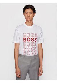 BOSS - Boss T-Shirt Tiburt 204 50442115 Biały Regular Fit. Kolor: biały
