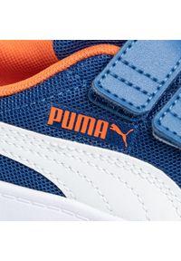 Niebieskie półbuty Puma na spacer, na rzepy