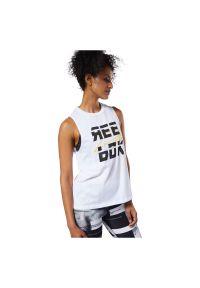 Koszulka damska Reebok bez rękawów DY8121. Materiał: bawełna, poliester. Długość rękawa: bez rękawów. Sport: fitness
