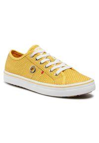 s.Oliver - Sneakersy S.OLIVER - 5-23640-26 Yellow Snake 650. Okazja: na co dzień, na spacer. Kolor: żółty. Materiał: skóra ekologiczna, materiał. Szerokość cholewki: normalna. Sezon: lato. Styl: casual