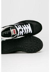 Czarne sneakersy Pepe Jeans z okrągłym noskiem, z cholewką