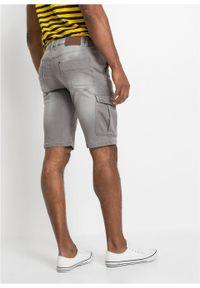 Bermudy dżinsowe ze stretchem Regular Fit bonprix jasnoszary denim. Kolor: szary #3