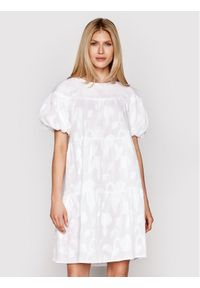 Biała sukienka Luisa Spagnoli prosta, na co dzień, casualowa