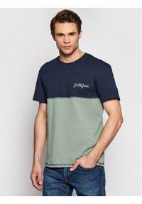 Jack & Jones - Jack&Jones T-Shirt Aidens 12187132 Granatowy Regular Fit. Kolor: niebieski