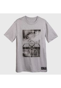 TARMAK - Koszulka do koszykówki TS500 FAST GROUND męska. Kolor: szary. Materiał: poliester, materiał. Sport: koszykówka