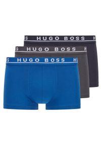 BOSS - Boss - Bokserki (3-pack). Kolor: niebieski. Materiał: bawełna