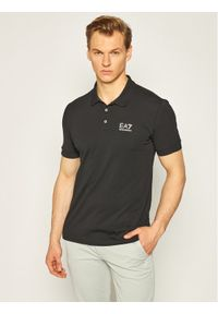 Czarna koszulka polo EA7 Emporio Armani polo