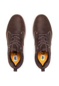 CATerpillar - Sneakersy CATERPILLAR - Titus P725014 Coffe Bean. Okazja: na co dzień. Kolor: brązowy. Materiał: skóra, nubuk, zamsz. Szerokość cholewki: normalna. Styl: sportowy, casual