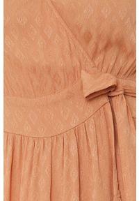 Y.A.S - Sukienka. Kolor: pomarańczowy. Materiał: tkanina. Typ sukienki: rozkloszowane