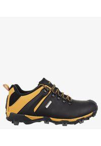 Casu - Czarne buty trekkingowe sznurowane casu mxc8845. Kolor: wielokolorowy, brązowy, czarny