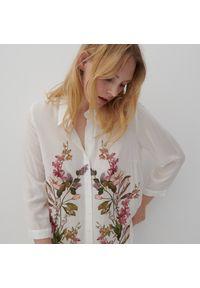 Reserved - Koszula z kwiatowym printem - Wielobarwny. Wzór: nadruk, kwiaty