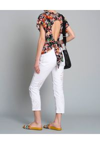 ISABEL MARANT - Bluzka z kwiaty. Kolor: czarny. Materiał: bawełna, materiał, poliester. Wzór: kwiaty. Styl: elegancki