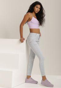 Renee - Niebieskie Spodnie Skinny Laonilla. Kolor: niebieski