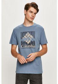 T-shirt columbia z nadrukiem, casualowy