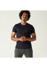 NYAMBA - Koszulka z krótkim rękawem męska Nyamba Sportee. Kolor: czarny. Materiał: elastan, bawełna, materiał. Długość rękawa: krótki rękaw. Długość: krótkie