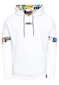 Puma Bluza Puma International 531063 Biały Regular Fit. Kolor: biały