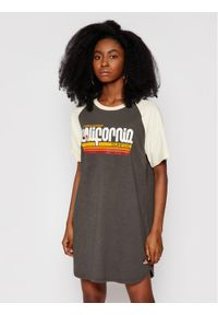 Superdry Sukienka codzienna Cali Surf Raglan W8010812A Szary Regular Fit. Okazja: na co dzień. Kolor: szary. Długość rękawa: raglanowy rękaw. Typ sukienki: proste. Styl: casual