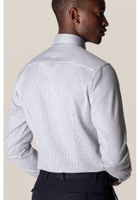 Eton - ETON - Koszula. Typ kołnierza: kołnierzyk włoski. Kolor: niebieski. Materiał: tkanina. Długość rękawa: długi rękaw. Długość: długie