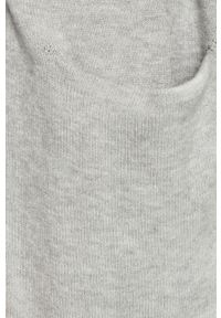 Szary sweter rozpinany Vila casualowy, na co dzień