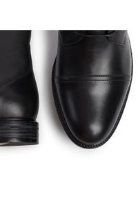 Czarne buty zimowe Gino Rossi casualowe, z cholewką, na co dzień