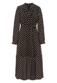 Czarna sukienka bonprix w kropki