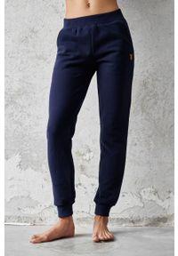 Niebieskie spodnie dresowe Cardio Bunny gładkie