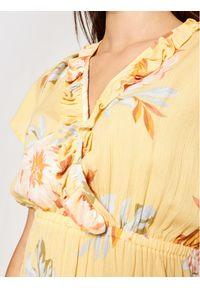 Billabong Sukienka letnia First Sight W3DR15BIP1 Żółty Regular Fit. Kolor: żółty. Sezon: lato