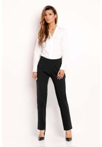 Czarne spodnie z wysokim stanem Lou-Lou eleganckie