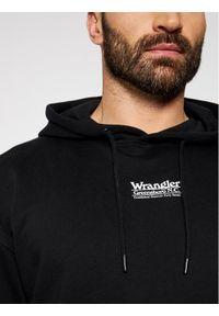 Wrangler Bluza W6E1HA100 Czarny Regular Fit. Kolor: czarny