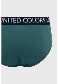 United Colors of Benetton - Slipy. Kolor: zielony. Materiał: bawełna. Długość: długie
