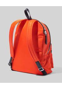 THE MARC JACOBS - Pomarańczowy plecak The Zipper Backpack. Kolor: pomarańczowy. Materiał: materiał. Wzór: aplikacja