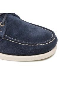 Sebago - Mokasyny SEBAGO - Portland Flesh Out 7111PTW Blue Navy 908. Kolor: niebieski. Materiał: zamsz, skóra. Szerokość cholewki: normalna