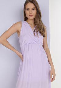 Born2be - Liliowa Sukienka Phridoe. Kolor: fioletowy