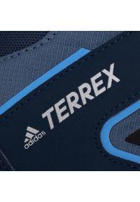 Niebieskie śniegowce Adidas