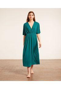 Eren Długa Koszula Nocna - Zielony - Etam. Kolor: zielony. Długość: długie