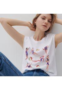 Reserved - Bawełniany t-shirt - Biały. Kolor: biały. Materiał: bawełna