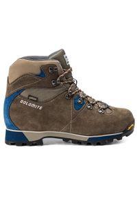 Brązowe buty trekkingowe Dolomite z cholewką, Gore-Tex, trekkingowe