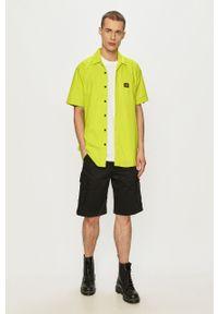 CATerpillar - Caterpillar - Koszula. Okazja: na co dzień. Kolor: żółty, zielony, wielokolorowy. Materiał: tkanina. Długość rękawa: krótki rękaw. Długość: krótkie. Wzór: gładki. Styl: klasyczny, casual #2