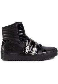 Rage Age - Sneakersy RAGE AGE - RA-04-01-000008 101. Okazja: na co dzień. Kolor: czarny. Materiał: lakier, skóra. Szerokość cholewki: normalna. Styl: elegancki, klasyczny, casual