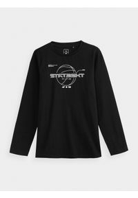 Czarna koszulka z długim rękawem 4f