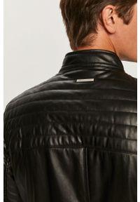Czarna kurtka Armani Exchange na co dzień, casualowa, bez kaptura