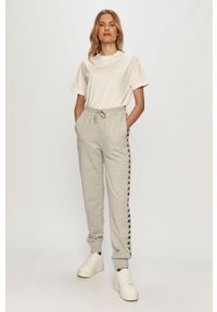 Szare spodnie dresowe Kappa z nadrukiem