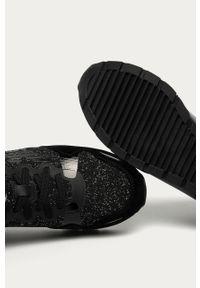 Czarne buty sportowe Emporio Armani na sznurówki, z cholewką