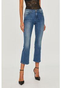 Niebieskie jeansy bootcut Pinko z podwyższonym stanem, klasyczne