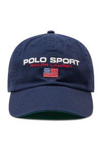 Niebieska czapka z daszkiem Polo Ralph Lauren sportowa